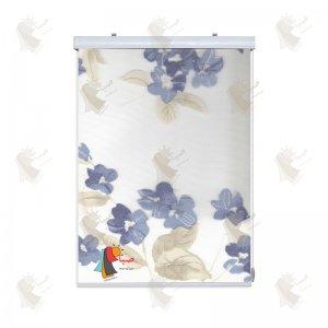 تور گل دار رنگ آبی کد 3-14216