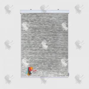 تور سفید طوسی ساده 2-22033